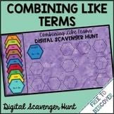 Combining Like Terms Digital Scavenger Hunt