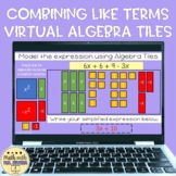 Combining Like Terms with Virtual Algebra Tiles