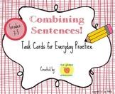 Combining Sentences Task Cards, Grammar Practice, Common C