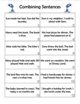 Combining Sentences Activity