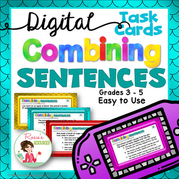 Combining Sentences Digital Task Cards