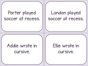 Combining Sentences Activity Cards