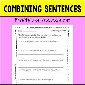 Combining Sentences Assessment