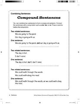 Combining Sentences: Compound Sentences
