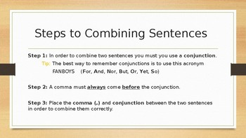 Combining Sentences (Grades 2nd - 5th)