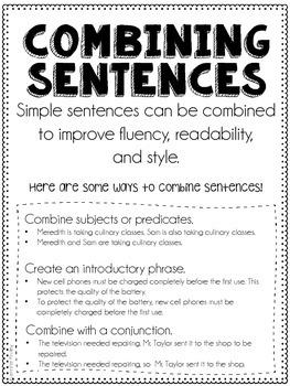Combining Sentences
