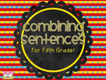 Combining Sentences Task Cards and Mini Lessons: Circus Theme