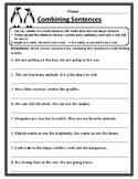 Combining Sentences Worksheet Combining Sentence Practice