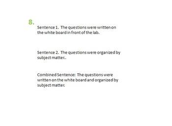 combining sentences worksheet writing compound verbs - Combining Sentences Worksheet