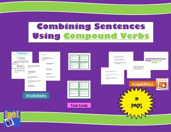 Combining Sentences Worksheet - Writing Compound Verbs