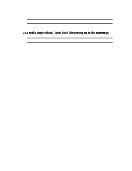 Combining Sentences in different ways worksheet