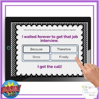 Combining Sentences with Conjunctions BOOM CARDS™ NO PRINT Teletherapy