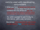 Combining Sentences with Coordinating Conjunctions Game