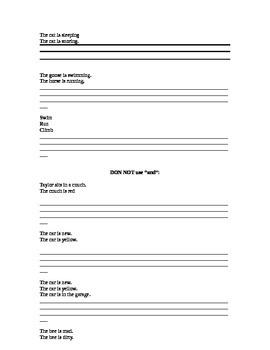 Combining Sentences worksheet