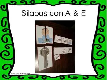 Combining Syllables/ Silabas con A & E