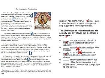 Emancipation Proclamation-Combined history and language arts activity