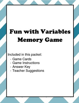 Combining Variable Matching Game