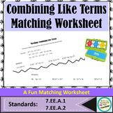 Combining Like Terms Versa Tiles Printable Worksheet