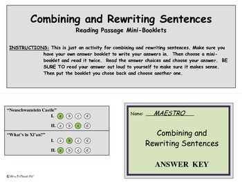 Combining and Rewriting Sentences Activity