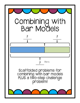 Combining with Bar Models Printable Worksheets