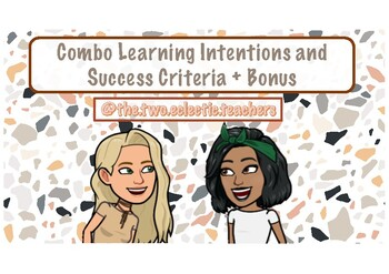 Combo Learning Intention and Success Criteria + BONUS