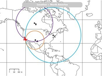 Combo: Locating EQ Epicenter Lab / Triangulation & Earthquake Coordinate Lab