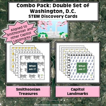 Combo Pack: Double Set of Washington, D.C. STEM Discovery Cards Kit
