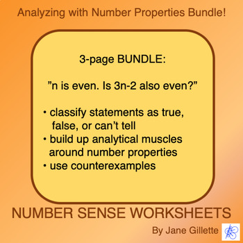 Combo Set: Analyzing With Number Properties