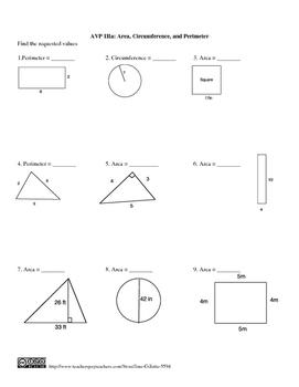 Combo Set: Area and Perimeter