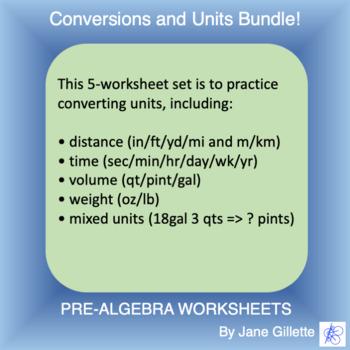 Combo Set: Conversions and Units