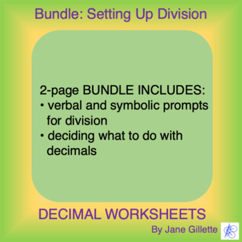 Bundle: Decimals: Setting up Division