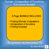 Bundle: Domain, Composition of functions, Inverses
