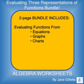 Combo Set: Evaluating Three Representations of Functions