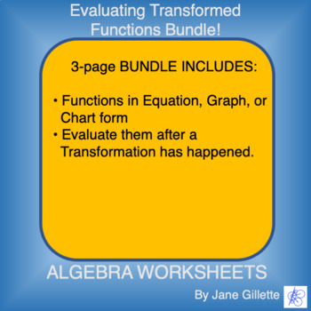 Combo Set: Evaluating Transformed Functions