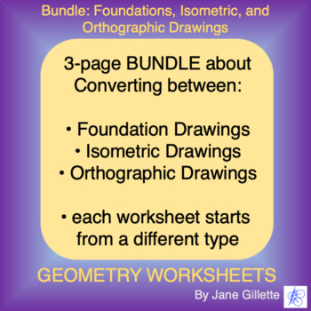 Bundle: Foundations, Isometric, and Orthographic Drawings