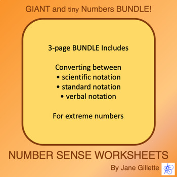Combo Set: Giant and Tiny Numbers