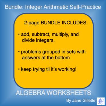 Combo Set: Integer Arithmetic Self-Practice