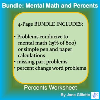 Bundle: Mental Math and Percents