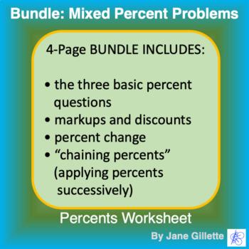 Bundle: Mixed Percent Problems