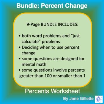 Bundle: Percent Change