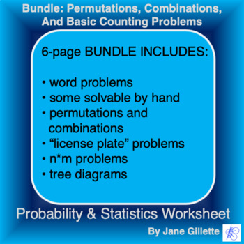 Combo Set: Permutations, Combinations, and Basic Counting Problems