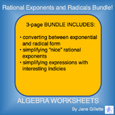 Bundle: Rational Exponents and Radicals