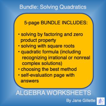 Combo Set: Solving Quadratics