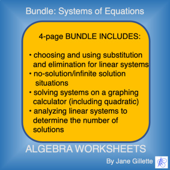 Combo Set: Systems of Equations