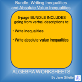 Bundle: Writing Inequalities and Absolute Value Inequalities
