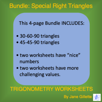 Combo: Special Right Triangles