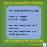 Bundle: Special Right Triangles