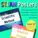 Combo pack Scientific Method + Creative Process- STEAM Posters