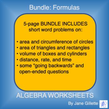 ComboSet: Formulas