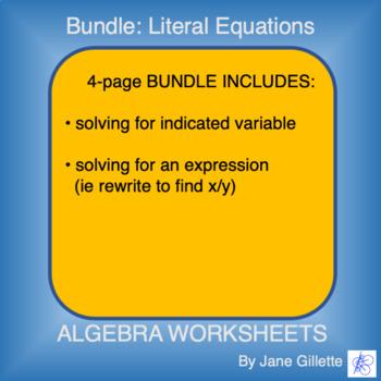 ComboSet: Literal Equations